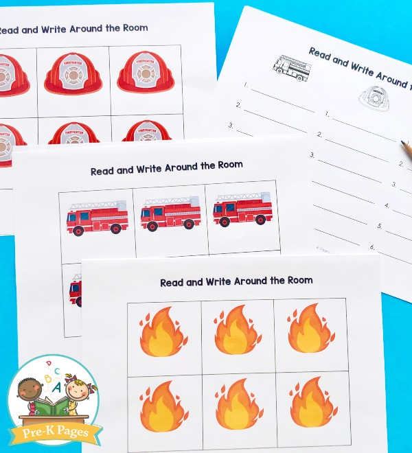 Fire Theme read and write around the room