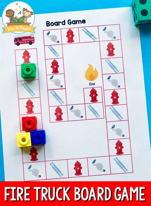 Fire Truck Board Game