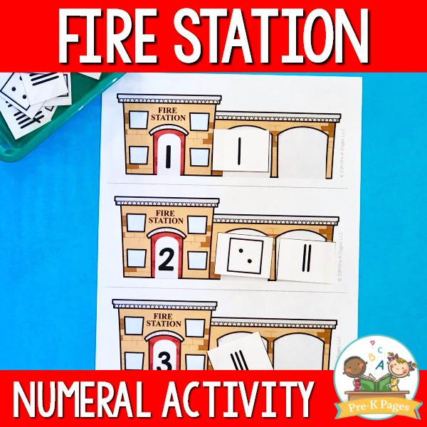 Fire station numeral activity
