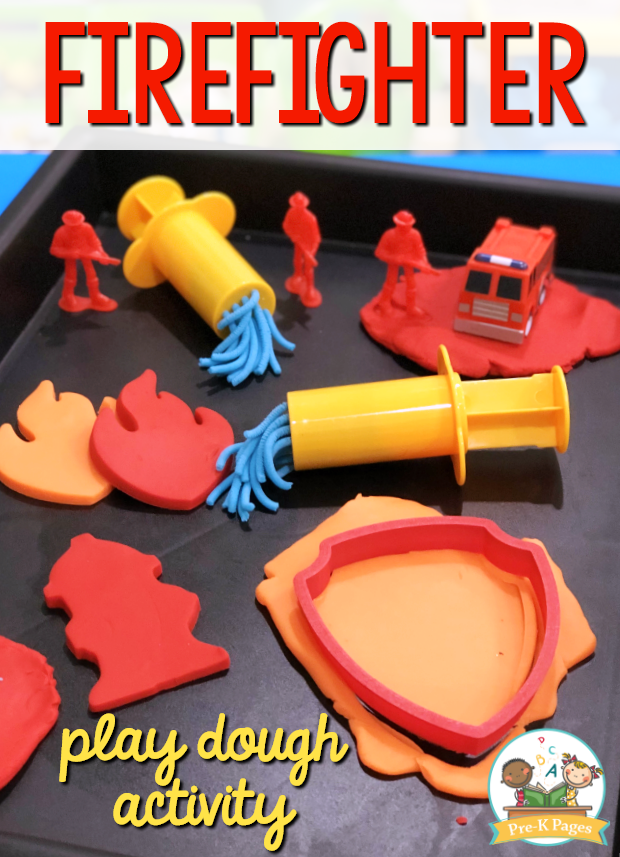 Firefighter Play Dough Activity