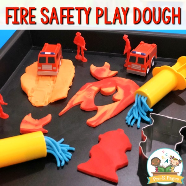 Firefighter Play Dough Tray