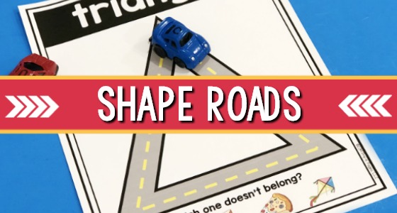 Printable Road Shape Mats for Preschool