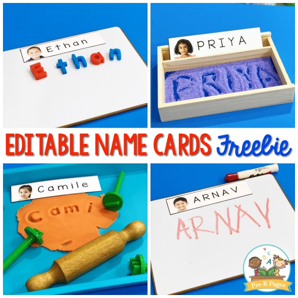 How to make name cards with pictures