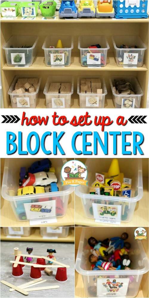 How to set up a preschool block center