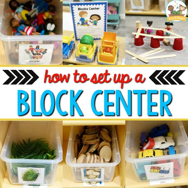 How to set up a preschool blocks center