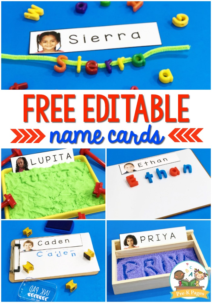 Name Cards for Preschool with Pictures