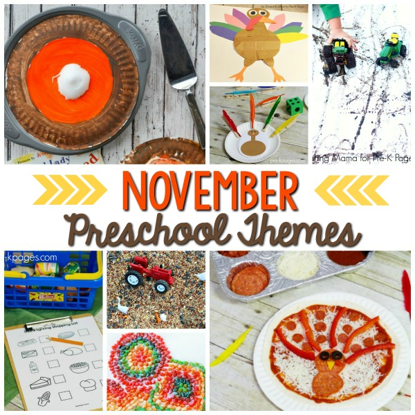 Pre-K Curriculum Themes November