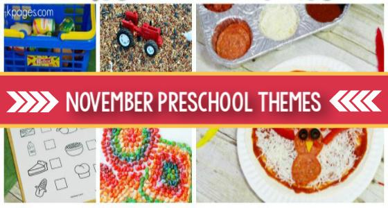 November Themes Preschool