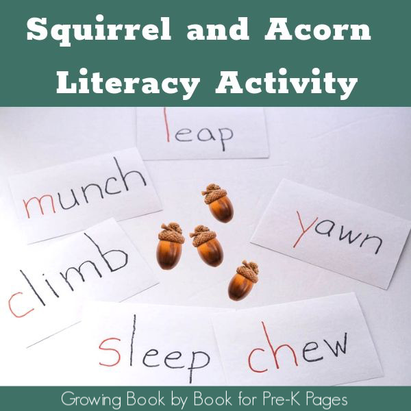 Squirrel and Acorn Literacy Activity