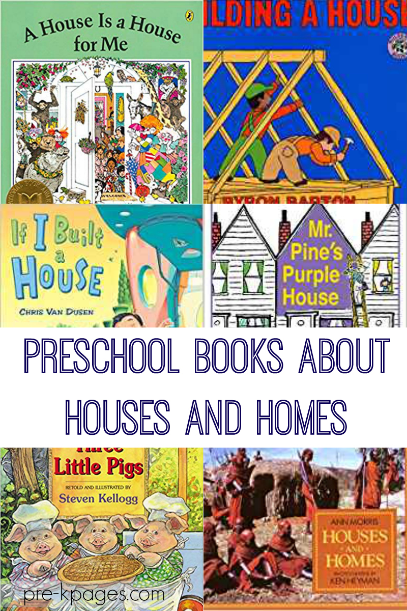 books about houses homes preschool