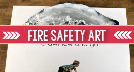 Fire Safety Theme Process Art