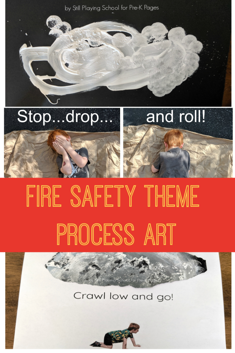 fire safety theme process art for preschool