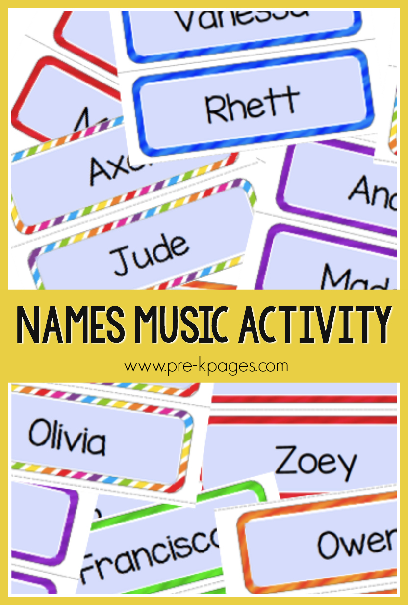 names music activity for preschool