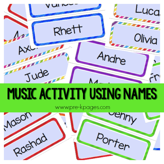 song with names pre-k