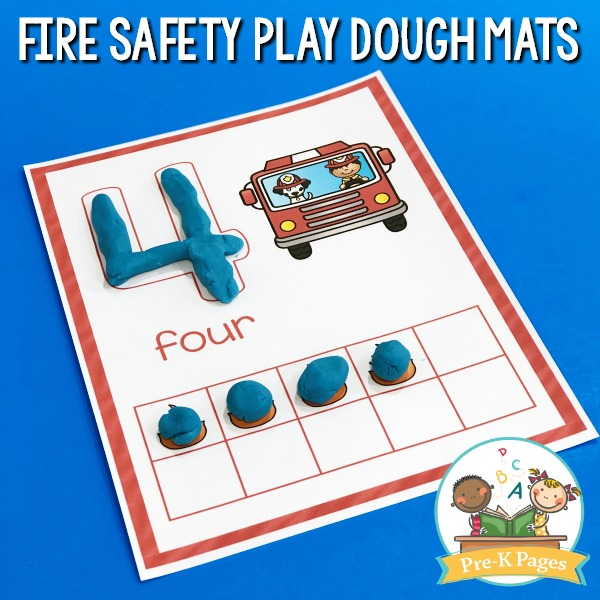 Fire Play Dough Mats