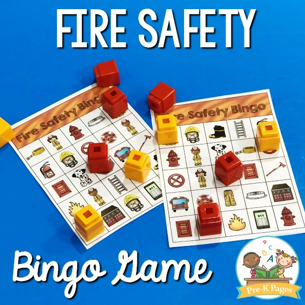 Fire Prevention Bingo Game