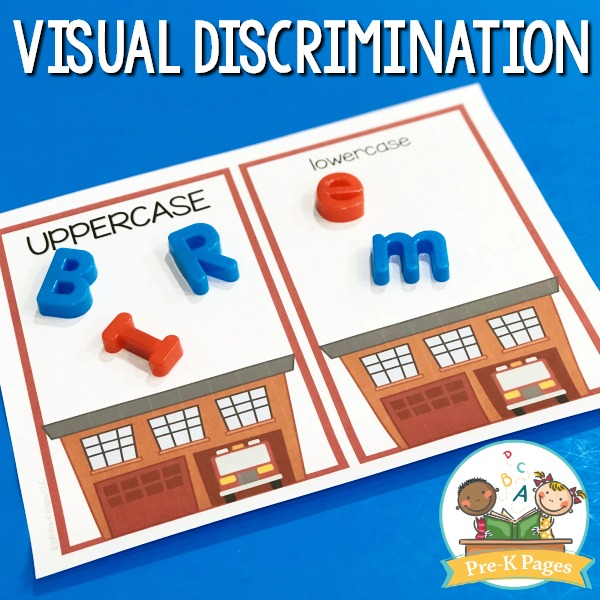 Fire Safety Visual Discrimination Letter Activity