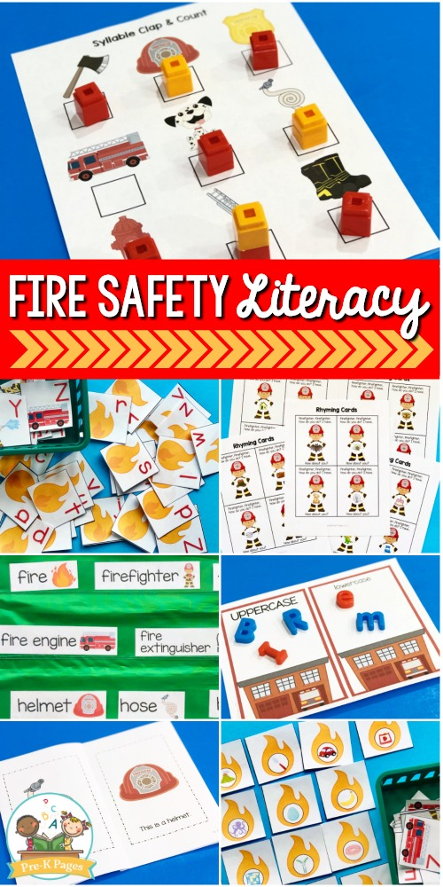 Fire Safety Theme Literacy Activities