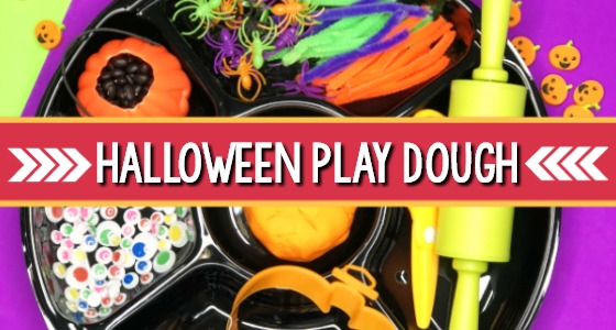 Halloween Playdough Tray Activity