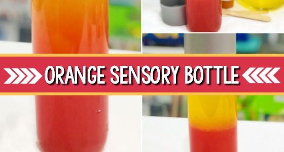 Orange Sensory Bottle