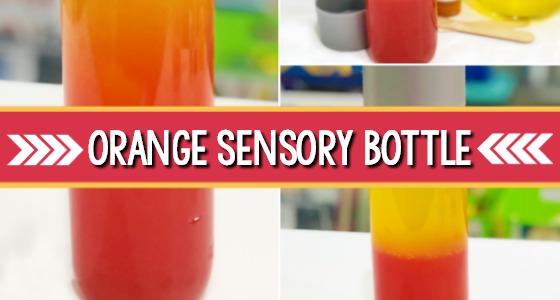 Orange Sensory Bottle