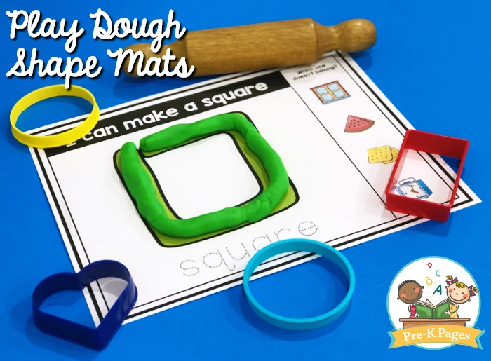 Play Dough Shape Mats Square