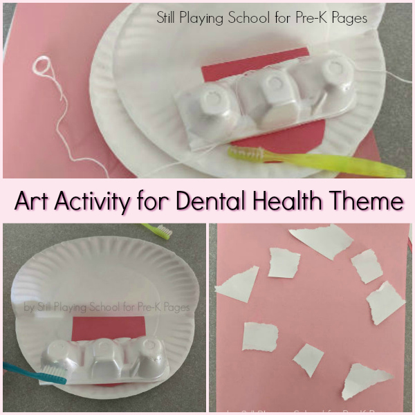 art activity dental health pre-k