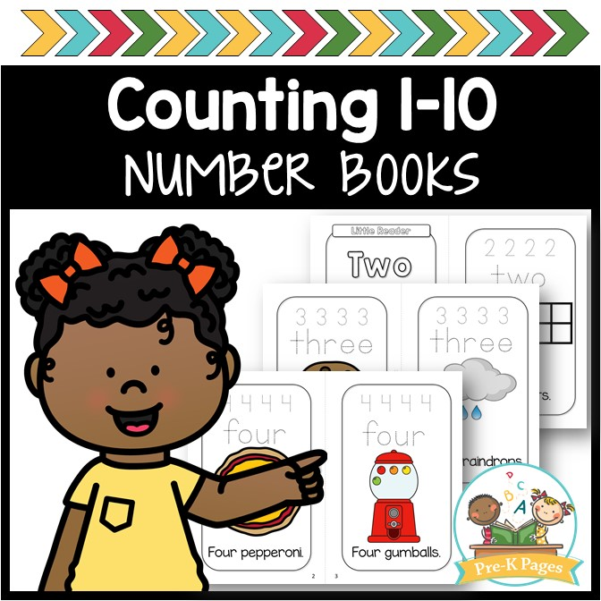Printable Counting Books for Preschool and Pre-K