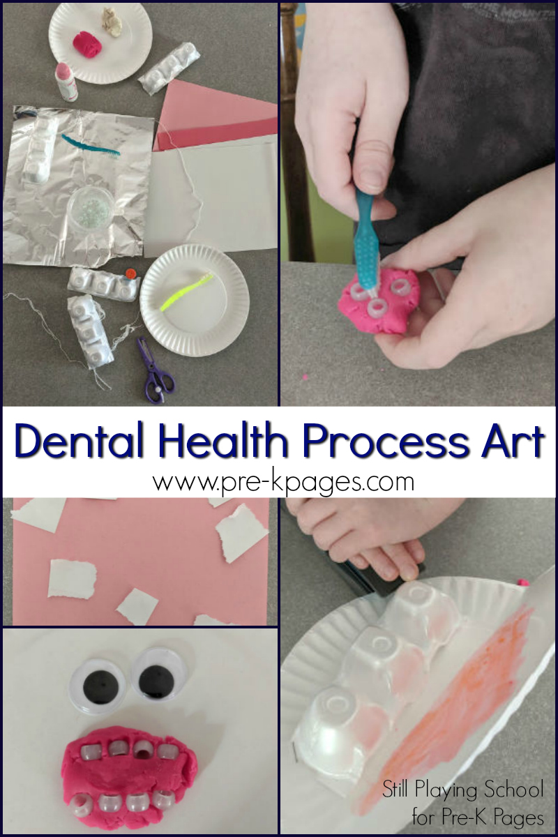 dental health process art for preschool