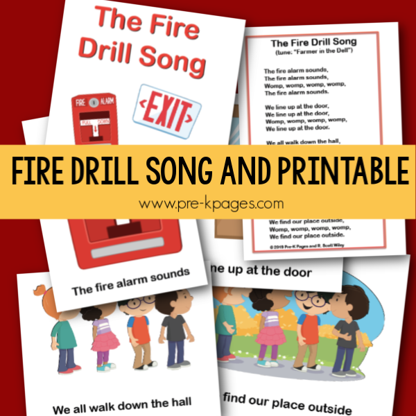fire drill song and printable pre-k