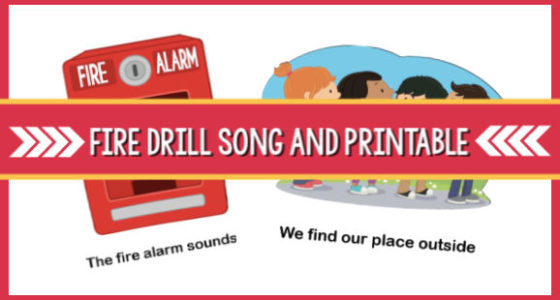The Fire Drill Song and Printable