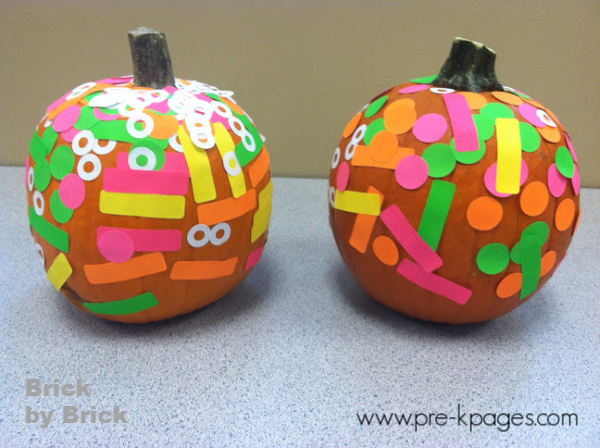 decorated pumpkins with stickers preschool