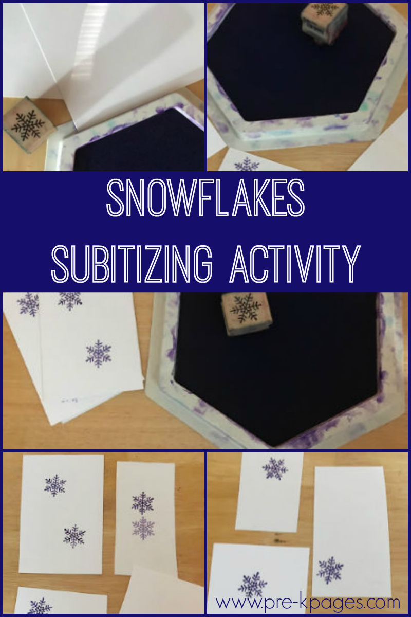 snowflakes subitizing activity for preschool