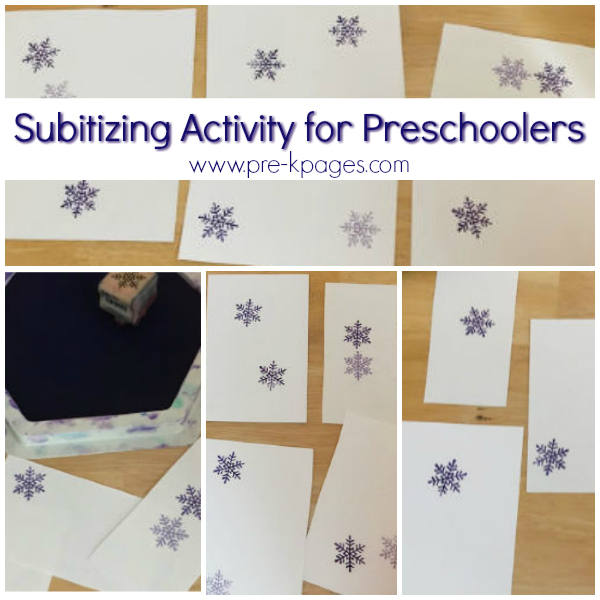 winter math activity for pre-k