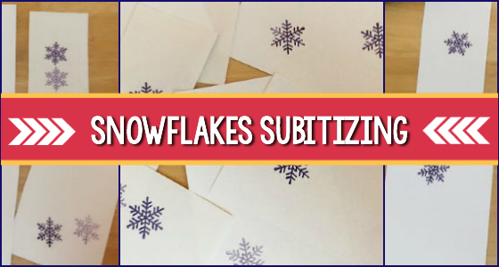 Snowflake Subitizing Activity