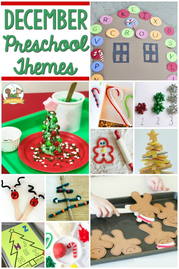 December Preschool Themes for preschool