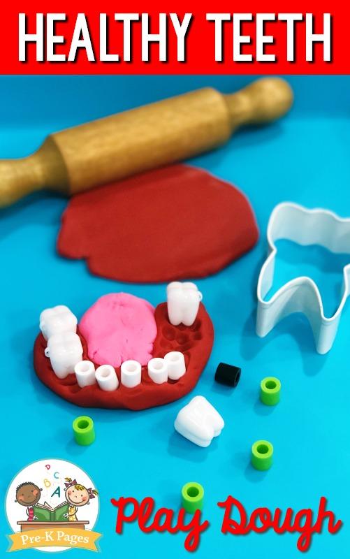 Dental Health Theme Play Dough Activity