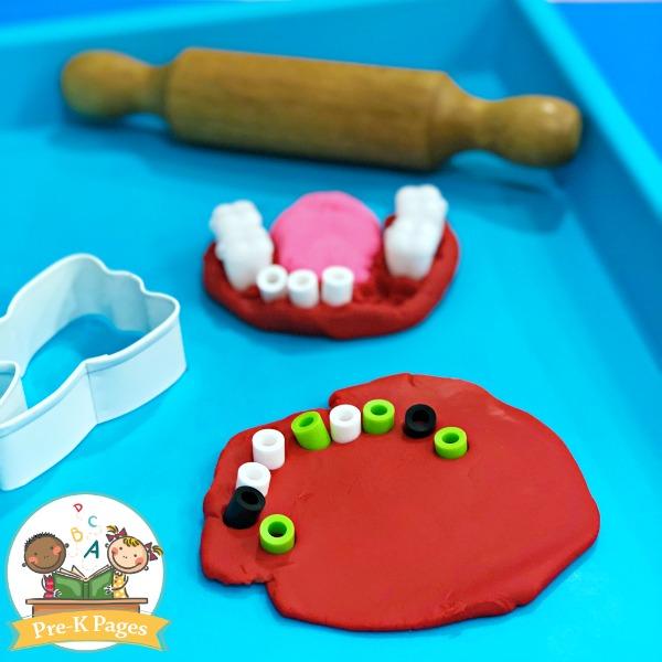 Dentist Play Dough Activity