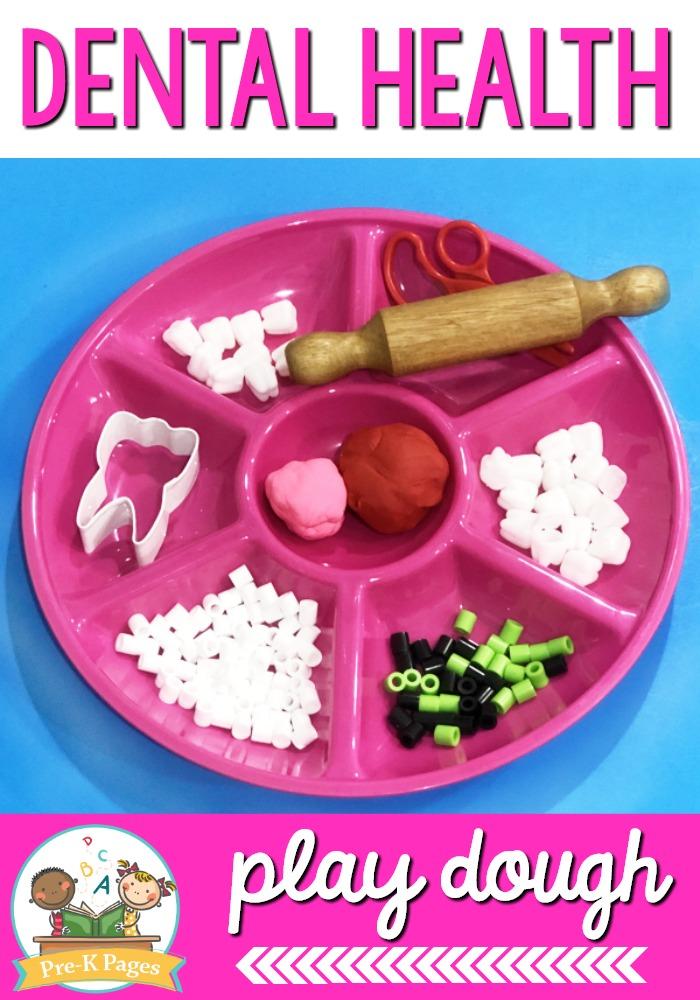 Dentist Theme Play Dough Activity