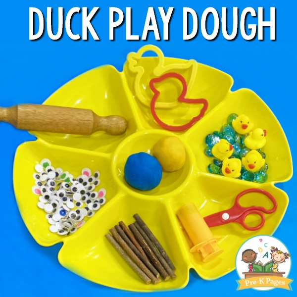 Duck Play Dough Tray