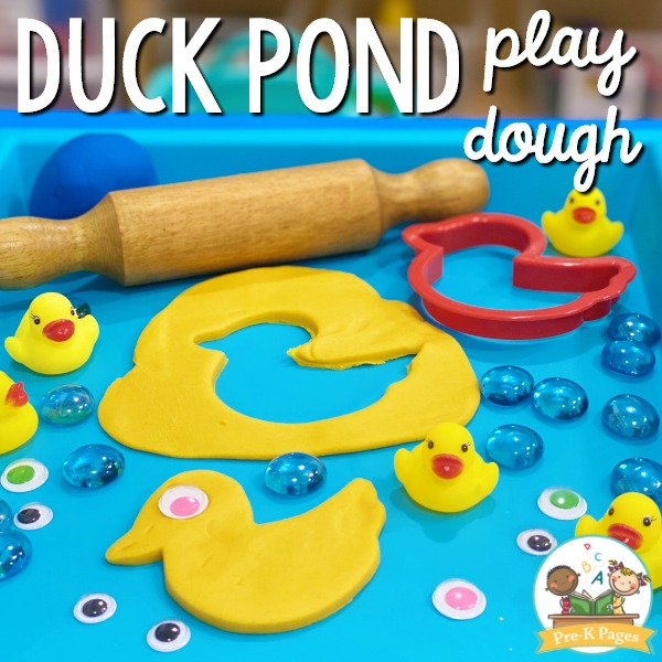 Duck Pond Play Dough Activity