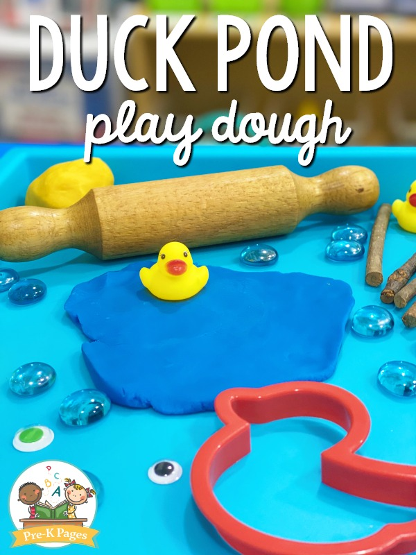 Duck Pond Play Dough Tray