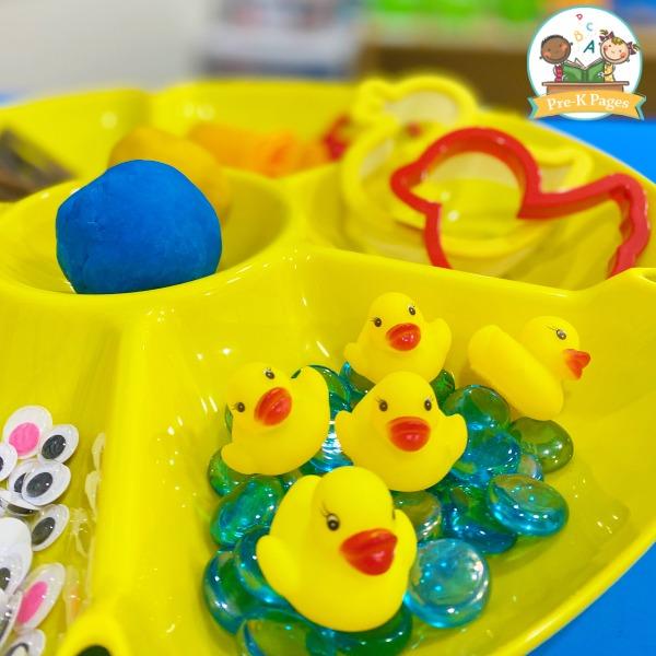 Duck Theme Play Dough