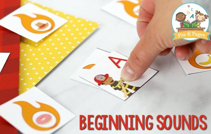Firefighter Beginning Sounds Activity