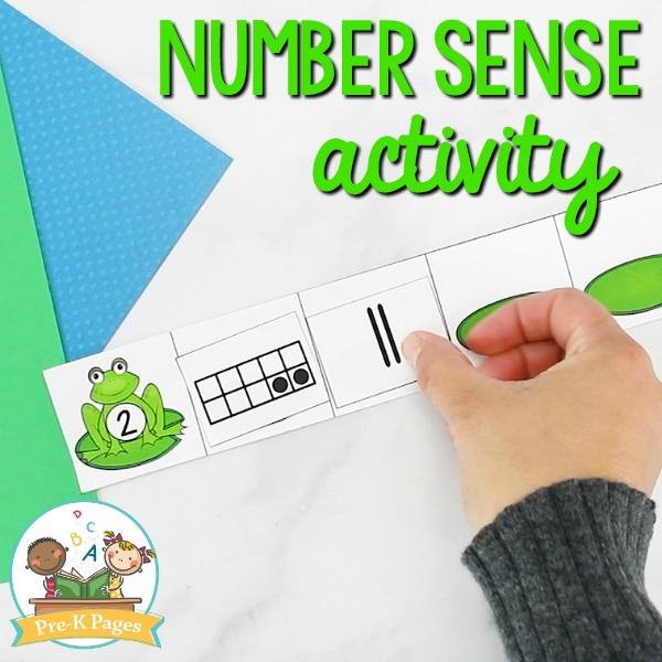Frog Number Sense Activity for Pre-K