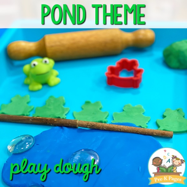 Frog Theme Play Dough Activity