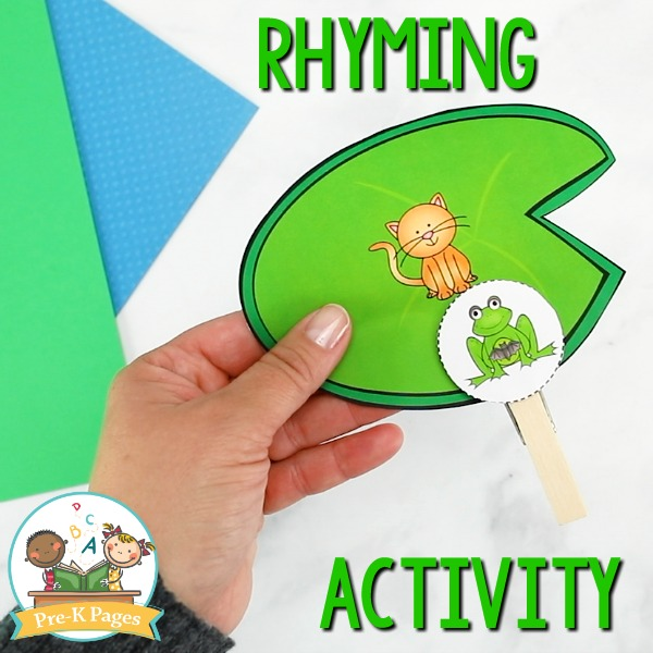 Lilly Pad Rhyming Activity for Pre-K