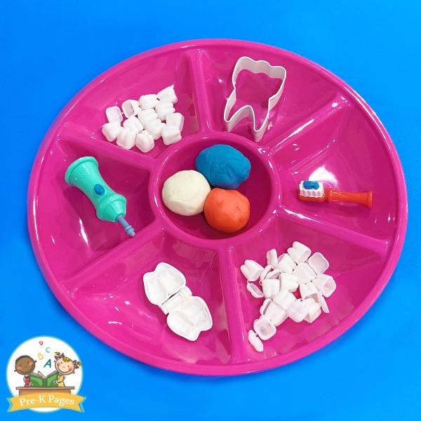 Play Dough Activity Dental Health