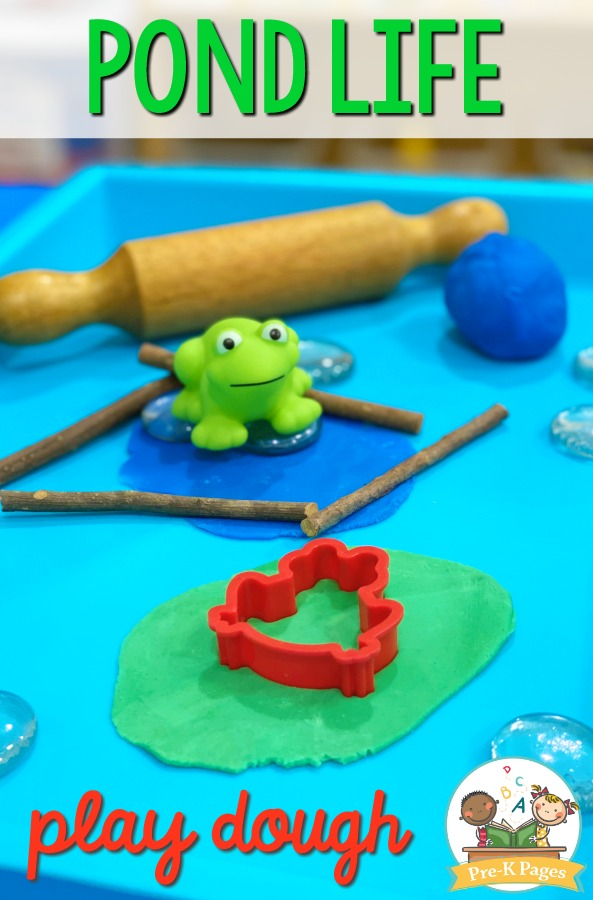 Frog Pond Play Dough Activity for Preschool