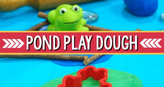 Frog Pond Play Dough for Preschoolers